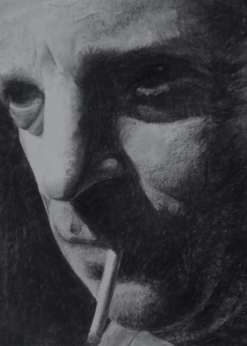 Rafael 50-60cm houtskoolportret