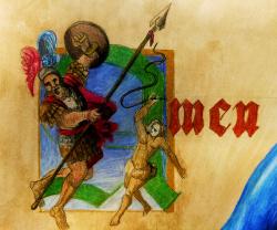David verslaat Goliath;